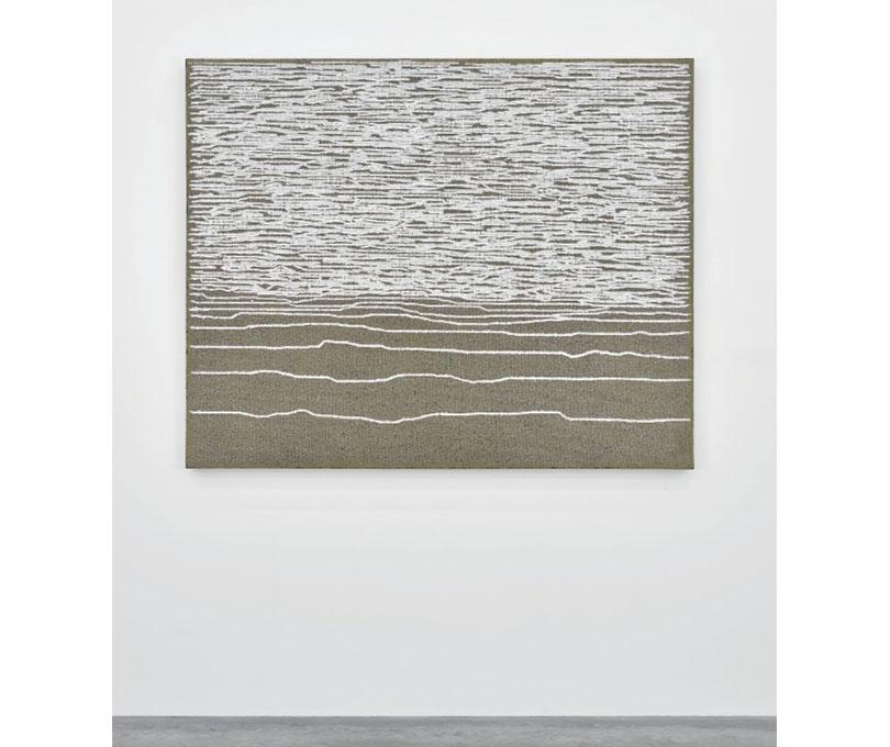 Ha Chong-Hyun, Conjunction 15-161, Oil (2015), Oil on hemp cloth, 130 × 162 cm. Courtesy the artist and Almine Rech Gallery