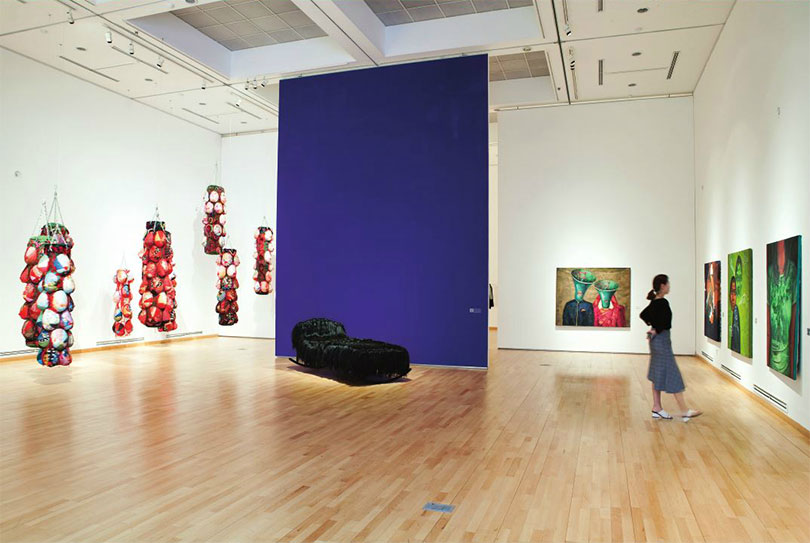 An installation view of Asia Women Artists, 2017. Photo credit: Seo Ji-yeon