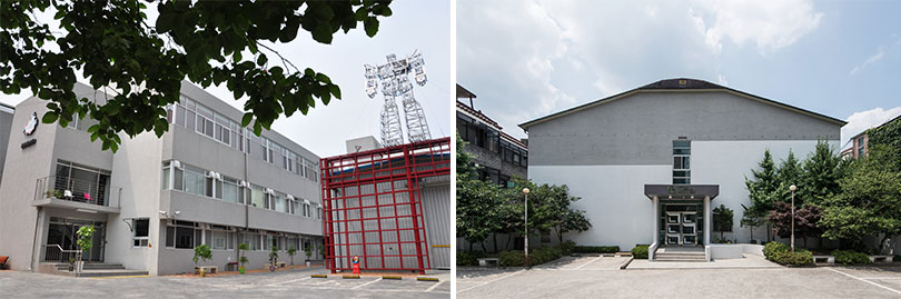 L) View of Seoul Art Space Geumcheon. R) View of MMCA Residency Changdong.