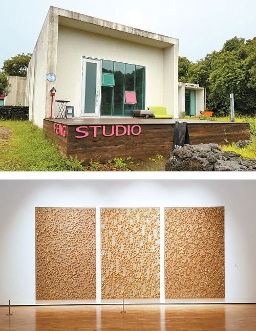 From top: Jeoji Art Village and the Jeju Museum of Contemporary Art, Kim Tschang-yeul Art Museum
