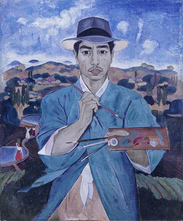"Lee Que-de's ""Self-portrait in Blue"