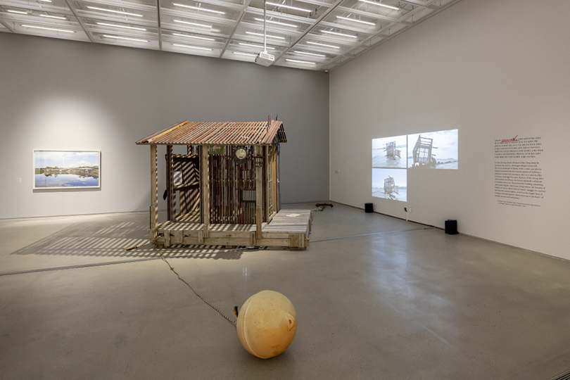 """Song Sung-jin's """"One Pyeong House Between Tides,"""" shown at the MMCA's main branch in Samcheong-dong area (MMCA)"""