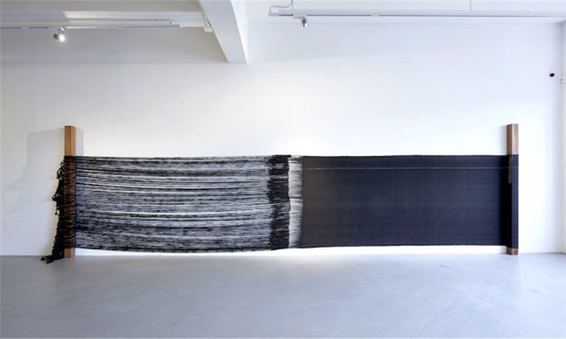 Sheela Gowda, 'Either Way', 2015, wool, human hair and wood, dimensions variable. Image courtesy the artist and Para Site, Hong Kong.