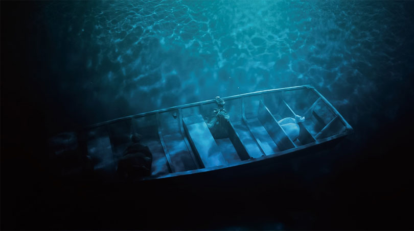 The ferryboat installation represents the profound history it floats on and also symbolizes the independent lives of the women—Jeong Jeonghwa traveled through China on a boat at the time of the Korean provisional government, and Ko Gyeyeon liked to fish to mitigate herself of the wounds of her past.
