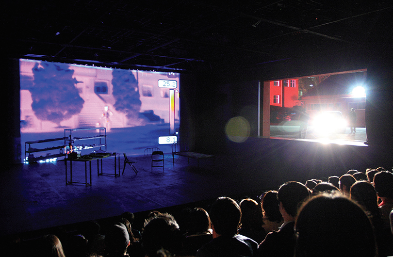 <FireCliff 2 – Seoul>, 2011. Venue-specific Performance, Documentary Theater, International Dawon Art Festival 《Festival Bo:m》, NTC Korea, Seoul. ⓒ the artist