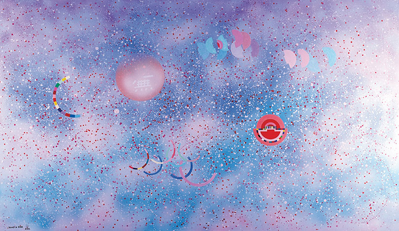 Rhee Seundja, 〈My Palace in the Milky Way, March, 2000〉, 2000. Acrylic on canvas, 130 × 195 cm. Private collection,