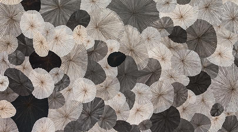 〈The Street〉, 2015. Mixed media on Hanji, 140 × 200 cm (partial)