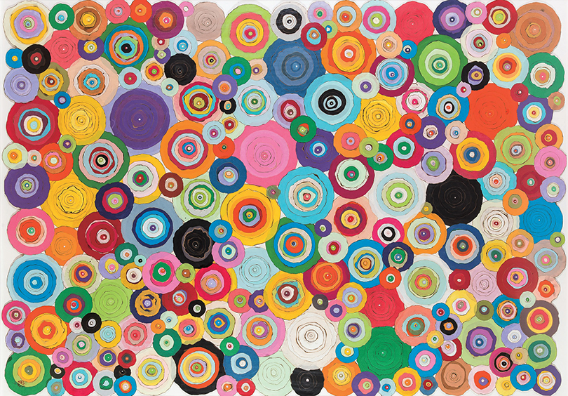 〈Pieno di Vuoto〉, 2010. Mixed media on Hanji, 140 × 200 cm