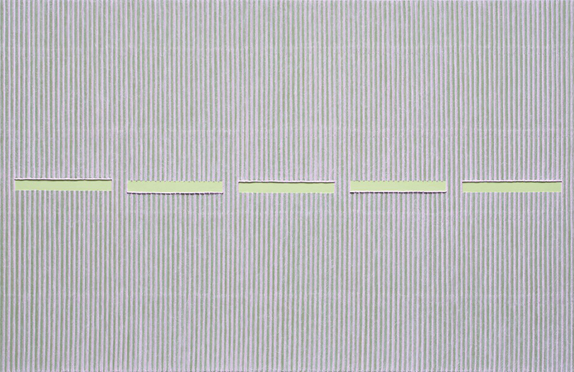 Park Seo-Bo, 〈Ecriture No. 111024〉, 2011. Mixed media with Korean hanji paper on canvas, 130 x 200 cm. ⓒthe artist ⓒKukje Gallery
