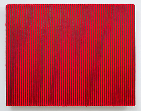 Park Seo-Bo, 〈Ecriture No. 160121〉, 2016. Acrylic with Korean hanji paper on canvas, 160 x 200 cm. ⓒPerrotin