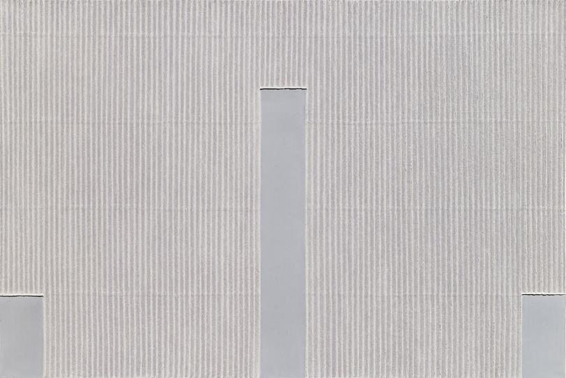 Park Seo-Bo, 〈Ecriture No. 45-75〉, 1975. Pencil and oil on canvas, 129.86 x 161.61 cm. ⓒthe artist ⓒBlum & Poe