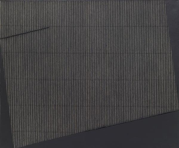 Park Seo-Bo, 〈Ecriture No. 981206〉, 1998. Mixed media with Korean hanji paper on canvas, 165 x 195 cm. ⓒthe artist ⓒTina Kim Gallery