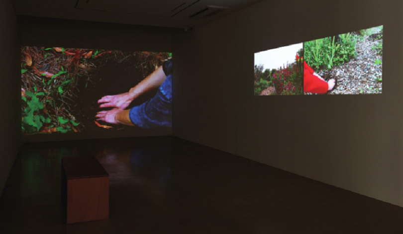 Kang Seung Lee, Garden, 3-channel color video installation, variable size, 2018, Image courtesy of ONE AND J. Gallery.