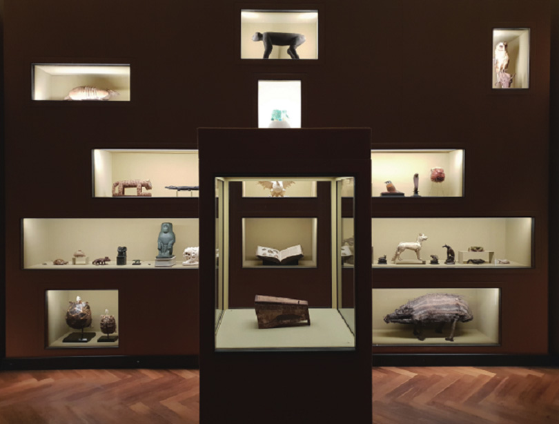 Exhibition view of Spitzmaus Mummy in a Coffin and Other Treasures, Kunsthistorisches Museum Wien, Austria, 2018–2019. Image courtesy of Lee Nara.