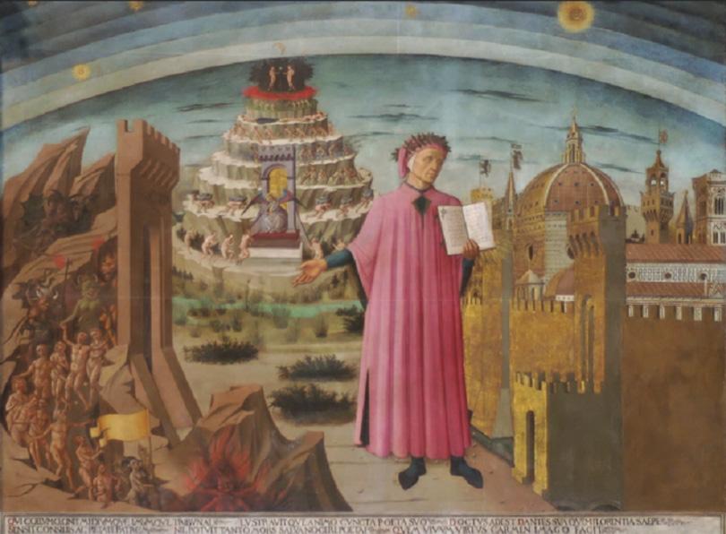 Domenico di Michelino, La Divina Commedia di Dante, 1465.