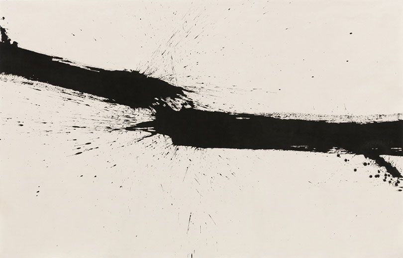 Kim Ho-deuk, 〈Flow〉, 2018. Ink on cotton fabric, 159 x 248 cm. ⓒthe Artist and Hakgojae Gallery
