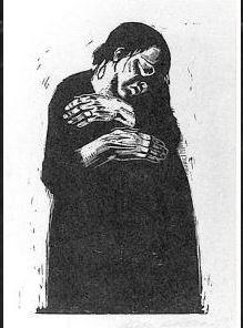 """Käthe Kollwitz, 〈The Widow Ⅰ〉 (Sheet 4 of """"War""""), 1922-23. Collection: Fukuoka Art Museum"""
