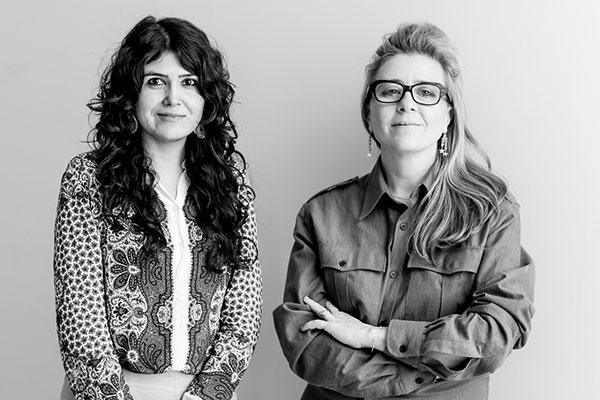 From left: Natasha Ginwala and Defne Ayas. Photo© Victoria Tomaschko.