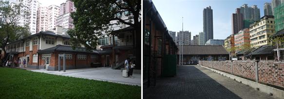 오일 스트리트(좌)와 비디오타지와 1a space가 있는 캐틀 디포트 빌리지(우)