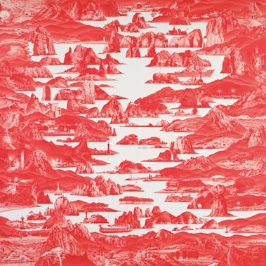 이세현_비트윈 레드-141_oil on linen_ 300 x 300cm_ 2012