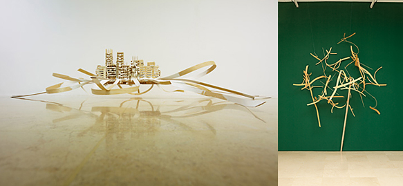 김동연_ 성스러운 도시 12 _ The Holy City_ plywood, cloth, acrylic_ 57x293x262cm_ 2012 / 김동연 _ Interchange 12_ plywood_ 2012