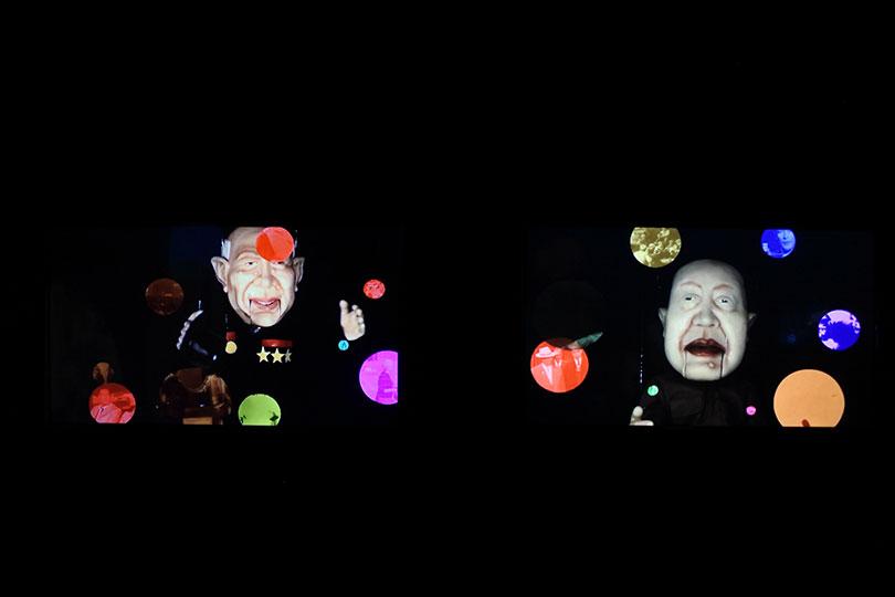 마우리시오 디아스&발터 리드베그, 〈냉전 이야기〉, 2010. 4채널 비디오, 7분(루프), ⓒ장서윤