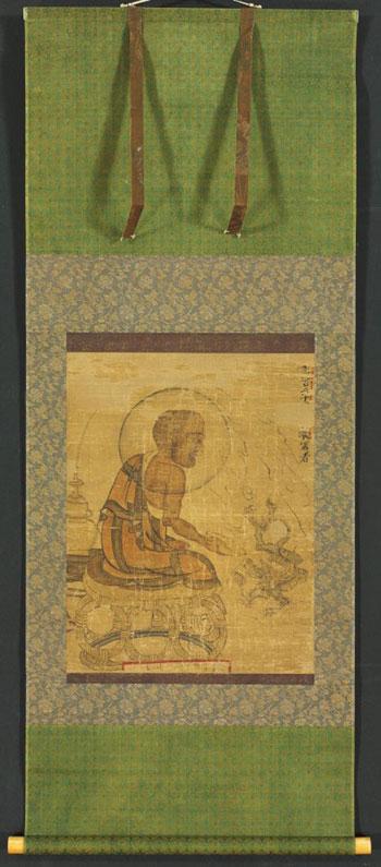 〈나한도〉(1235). 현존하는 고려시대 나한도 10점 중 하나이다. CMA가 1979년 일본에서 구입하여 현재 한국실에 설치돼 있다. ©Cleveland Museum of Art