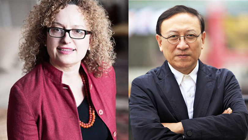 Carolyn Christov-Bakargiev(left), Yongwoo Lee(right)