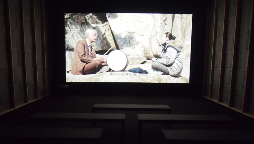 "The exhibit offers visitors a chance to view films made by the two brothers of ""PARKing CHANce,"" including ""Day Trip,"" pictured above, featuring Song Kang-ho and Jeon Hyo-jeong.ⒸYOON SO-YEON"